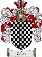 Primary image for Calvo Family Crest / Coat of Arms JPG or PDF Image Download