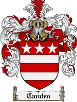 Primary image for Canden Family Crest / Coat of Arms JPG or PDF Image Download