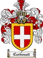 Primary image for Carbonall Family Crest / Coat of Arms JPG or PDF Image Download