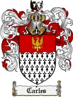 Primary image for Carles Family Crest / Coat of Arms JPG or PDF Image Download