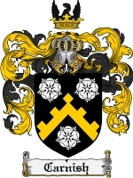 Primary image for Carnish Family Crest / Coat of Arms JPG or PDF Image Download