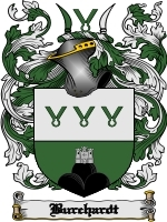 Primary image for Burchardt Family Crest / Coat of Arms JPG or PDF Image Download