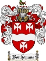 Bonhomme Family Crest / Coat of Arms JPG or PDF Image Download - $6.99