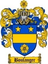 Boulanger Family Crest / Coat of Arms JPG or PD... - $6.99