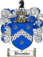 Primary image for Brooster Family Crest / Coat of Arms JPG or PDF Image Download