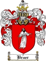 Primary image for Bruer Family Crest / Coat of Arms JPG or PDF Image Download