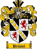 Primary image for Brussel Family Crest / Coat of Arms JPG or PDF Image Download