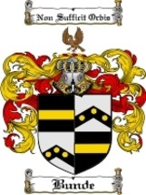 Bunde Family Crest / Coat of Arms JPG or PDF Image Download - $6.99