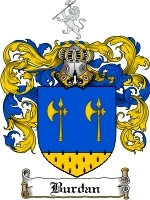 Primary image for Burdan Family Crest / Coat of Arms JPG or PDF Image Download