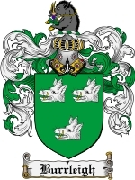 Primary image for Burrleigh Family Crest / Coat of Arms JPG or PDF Image Download