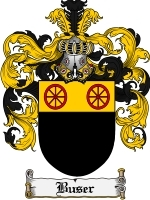 Primary image for Buser Family Crest / Coat of Arms JPG or PDF Image Download