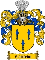 Primary image for Cacicedo Family Crest / Coat of Arms JPG or PDF Image Download