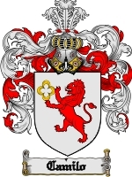 Primary image for Camilo Family Crest / Coat of Arms JPG or PDF Image Download