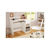 Modern Student Office Computer Desk White Home Furniture Computer Laptop... - $144.99