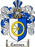 Primary image for Carrara Family Crest / Coat of Arms JPG or PDF Image Download