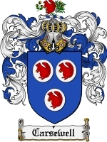 Primary image for Carsewell Family Crest / Coat of Arms JPG or PDF Image Download