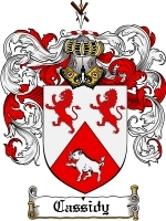 Primary image for Cassidy Family Crest / Coat of Arms JPG or PDF Image Download
