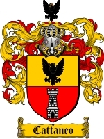 Primary image for Cattaneo Family Crest / Coat of Arms JPG or PDF Image Download