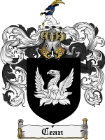 Primary image for Cean Family Crest / Coat of Arms JPG or PDF Image Download
