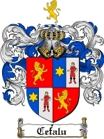 Primary image for Cefalu Family Crest / Coat of Arms JPG or PDF Image Download