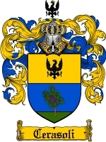 Primary image for Cerasoli Family Crest / Coat of Arms JPG or PDF Image Download