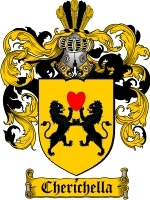 Primary image for Cherichella Family Crest / Coat of Arms JPG or PDF Image Download