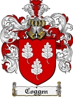 Primary image for Coggen Family Crest / Coat of Arms JPG or PDF Image Download