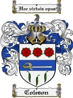 Primary image for Coleson Family Crest / Coat of Arms JPG or PDF Image Download