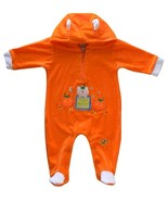Pint Size 3/6 Mos. Baby Boys Halloween Pumpkin Coverall Footie Costume - $10.99