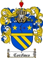 Cordisco Family Crest / Coat of Arms JPG or PDF Image Download
