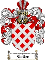 Primary image for Cottee Family Crest / Coat of Arms JPG or PDF Image Download