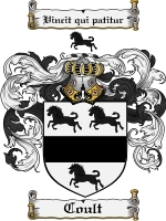 Primary image for Coult Family Crest / Coat of Arms JPG or PDF Image Download