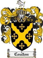 Primary image for Coulton Family Crest / Coat of Arms JPG or PDF Image Download
