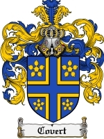Covert Family Crest / Coat of Arms JPG or PDF Image Download