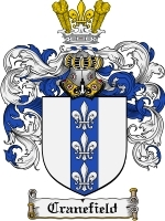 Primary image for Cranefield Family Crest / Coat of Arms JPG or PDF Image Download