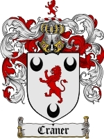 Primary image for Craner Family Crest / Coat of Arms JPG or PDF Image Download