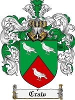 Primary image for Craw Family Crest / Coat of Arms JPG or PDF Image Download