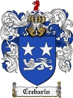 Primary image for Crebarin Family Crest / Coat of Arms JPG or PDF Image Download