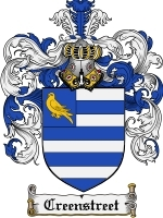 Creenstreet Family Crest / Coat of Arms JPG or PDF Image Download