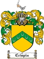 Primary image for Crispin Family Crest / Coat of Arms JPG or PDF Image Download
