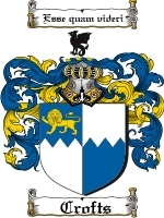 Primary image for Crofts Family Crest / Coat of Arms JPG or PDF Image Download