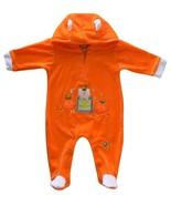 Pint Size 3/6 Mos. Baby Girls Halloween Pumpkin Coverall Footie Costume - $10.99