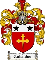 Cubaldus Family Crest / Coat of Arms JPG or PDF Image Download