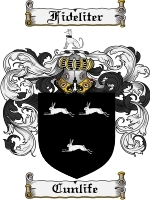 Primary image for Cunlife Family Crest / Coat of Arms JPG or PDF Image Download