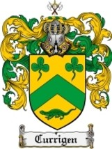Currigen Family Crest / Coat of Arms JPG or PDF Image Download - $6.99