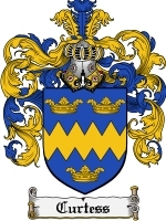 Primary image for Curtess Family Crest / Coat of Arms JPG or PDF Image Download