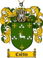 Primary image for Curtin Family Crest / Coat of Arms JPG or PDF Image Download
