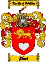 Hart Family Crest / Coat of Arms JPG or PDF Image Download - $6.99