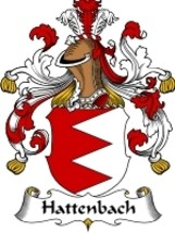 Hattenbach Family Crest / Coat of Arms JPG or PDF Image Download - $6.99