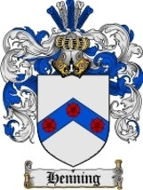 Henning Family Crest / Coat of Arms JPG or PDF Image Download - $6.99